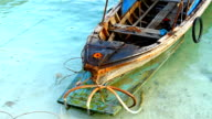 Wooden fishing boat video