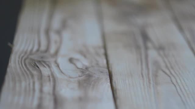 Wooden Floor or table. slider movement video. video