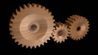 Wooden gears turning  -seamless looping-1080p HD video