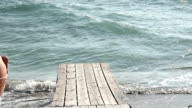 wooden pier in the sea video