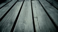 Wooden planks. Dolly shot. Close up video