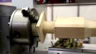 Wooden product in woodworking machine-tool video