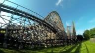 Wooden Rollercoaster HD video