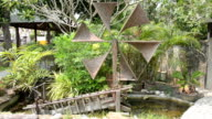 wooden watermill with water wheel video