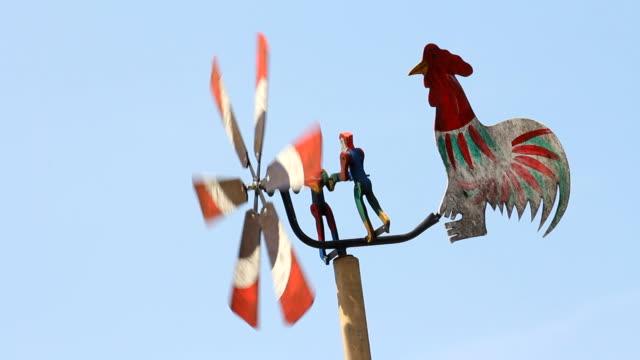 Wooden windmill. video