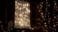 Wooden window with Christmas lights video