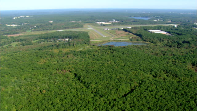 Woods Near Northe Central State Airfield  - Aerial View - Rhode Island, Providence County, United States video