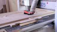 Woodworking CNC machine. Wooden doors production automated line video