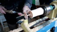 woodworking with lathe video