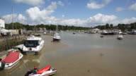 Wootton Bridge Isle of Wight between Ryde and Newport PAN video