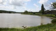 Wootton Bridge mill pond Isle of Wight uk PAN video