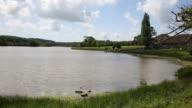 Wootton Bridge mill pond Isle of Wight uk video