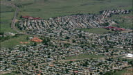 Wopnderkoppies Mining Village  - Aerial View - North-West,  Bojanala Platinum,  Local Municipality of Madibeng,  South Africa video