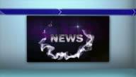 NEWS Word in Monitors, 4k video