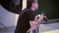 Work in photo studio. video