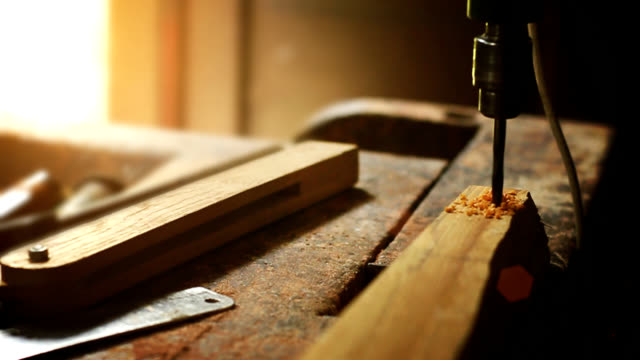 Work in the carpentry shop. video