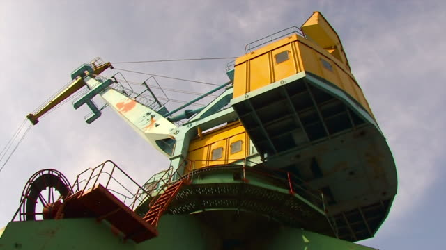 Work port crane. Timelaps. video