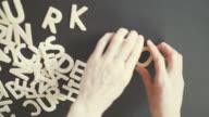 work Spelled In wooden alphabet video
