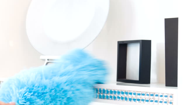 Work with blue duster video