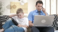 HD DOLLY: Workaholic Father With Pouting Son video