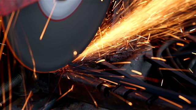 Worker Cuts Metal video