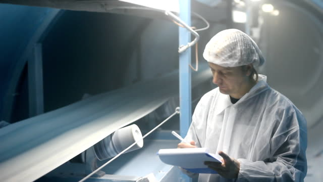 Worker in a Sugar Factory video