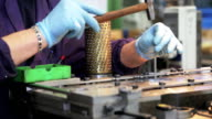 Worker in assembly line video
