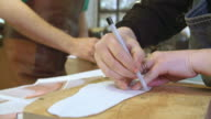 Worker In Bespoke Shoemakers Drawing Template For Last video