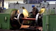 Worker in metalwork industry video