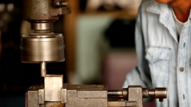 worker with machine video