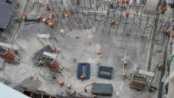 Workers at construction site video