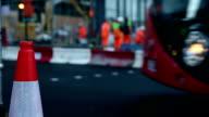 Workers repairing road video