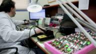 Working at Electronics laboratory video