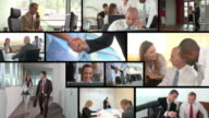 HD MONTAGE: Working Business People video