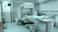 Working CAT scan in hospital video