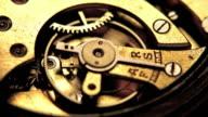 Working clock mechanism. video