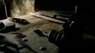 HD MACRO: Working equipment video