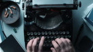 LD Working fast on an old typewriter video