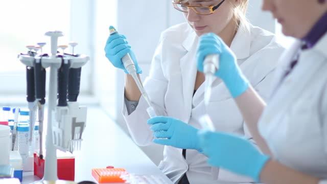 working in laboratory HD video