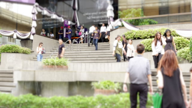 Working Late : 4K time lapse the crowd walk on walkway at rush hour.HD format. video