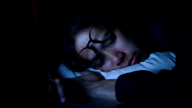 Working Late : Businesswoman sleeping on the bed.HD format. video
