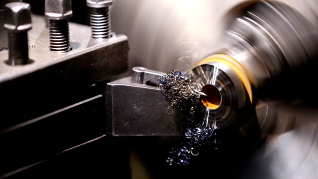 working lathe operator controlled video