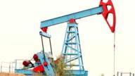 Working oil pump in a field video