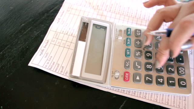 Working on calculator,Panning shot video