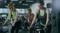 Working Out on Stationary Bikes video
