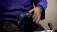 Working Shoemakers Hands video