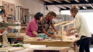 Working together in their furniture design studio video