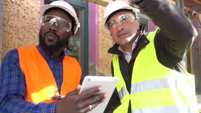 Working together on construction site video