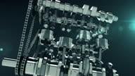 Working V8 Engine 3D Animation video