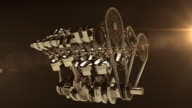 Working V8 Engine 3D Animation video